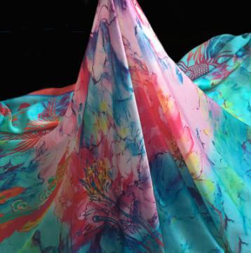 数码喷印 真丝大方巾
