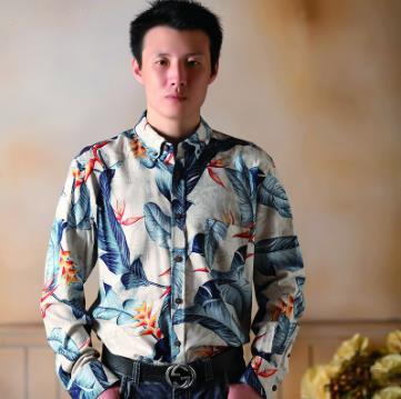 真丝 男士长袖衬衫